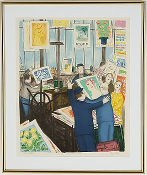Lennart Jirlow, lithograph in colours, 1990, signed 218/280.