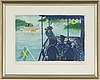Lennart jirlow, lithograph in colours, 1989, signed hc.