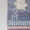Anna-johanna ångström, a carpet, flat weave, ca 229 x 167,5 cm, signed å.