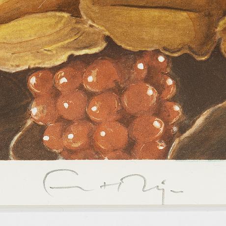 Ernst billgren, lithograph in colours, signed 76/225.