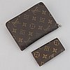 Louis vuitton, a monogram canvas wallet and a key holder.