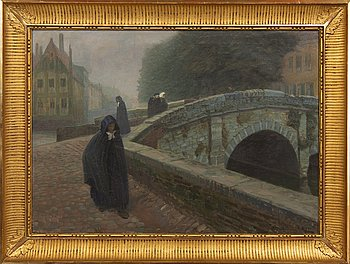 Anders Trulson, oil on canvas, signed, dated 1909.