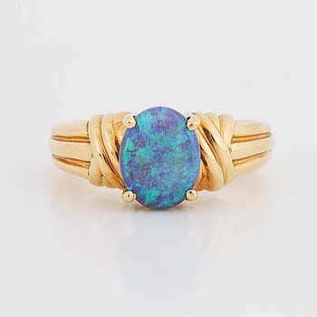 Gold and opal ring.