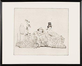 Unto Koistinen, etching, signed and dated 1981, numrerad 8/10.