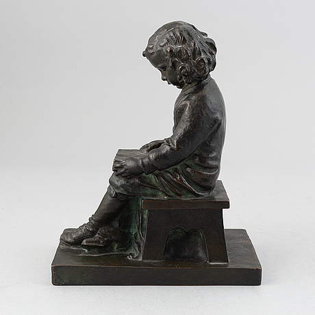 A herman neujd bronze sculpturem signed and dated 1915.