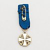 Knight i klass and it's miniature of order of the white roes of finland. gilded silver and enamel. tillander, helsinki.