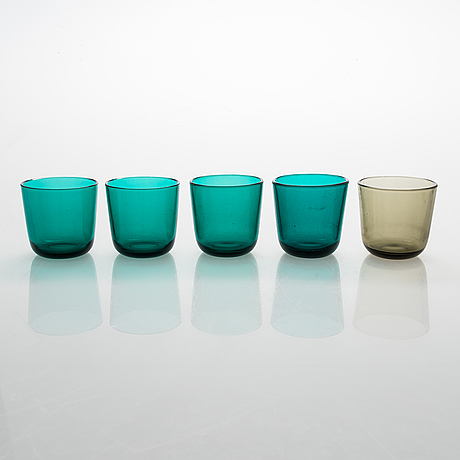 A kaj franck glass service set, nuutajärvi.
