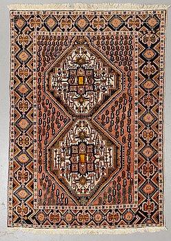 A rug, semi-antique, Afshar, probably ca 187 x 131 cm.