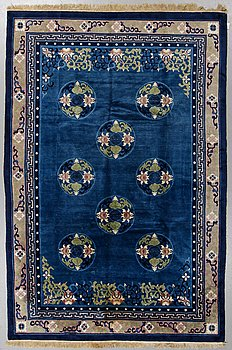 A rug, Old China, ca 278 x 185 cm.