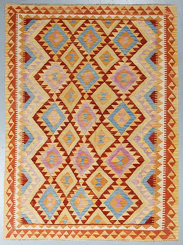 A rug, kilim, ca 248 x 181 cm.