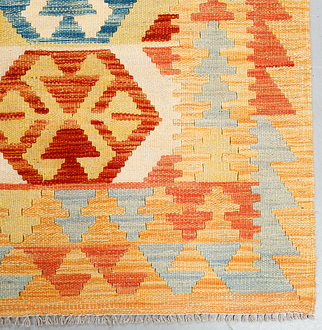 A carpet, kilim, ca 302 x 210 cm.