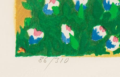 Lennart jirlow, färglitografi, 1986, signerad 86/310.