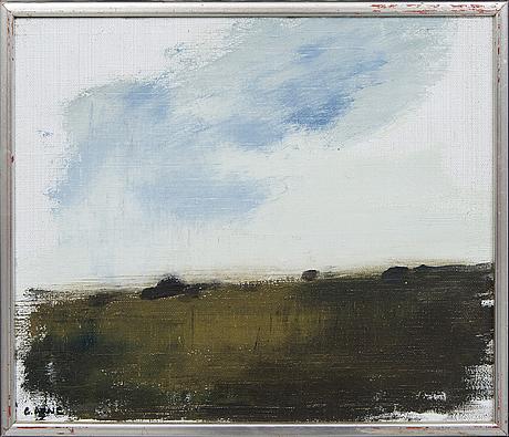 Gustav arne, oil on canvas signed.