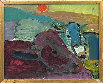 Fredrik Rohde, oil on panel signed and dated 92.
