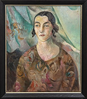 Jules Schyl, oil on panel signed and dated 1922.