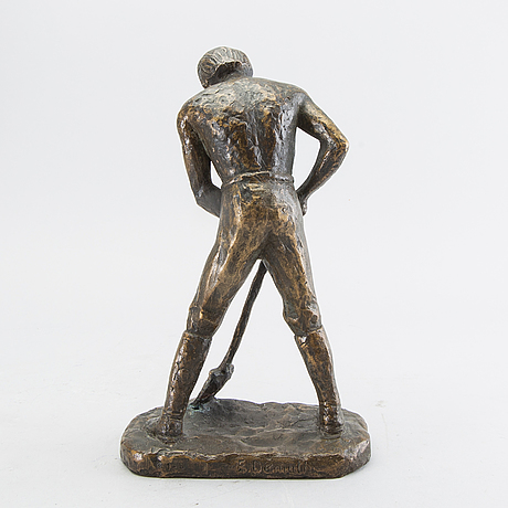 Erik demuth, sculpture  bronze signed.