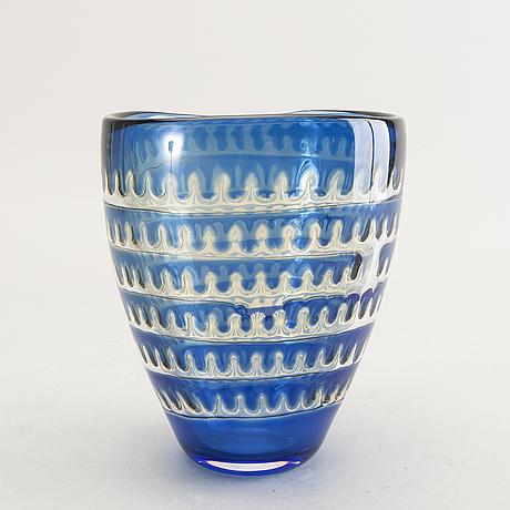 Edvin öhrström, an ariel orrefors glass vase.