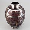 Vas, glas, troligen murano, italien.
