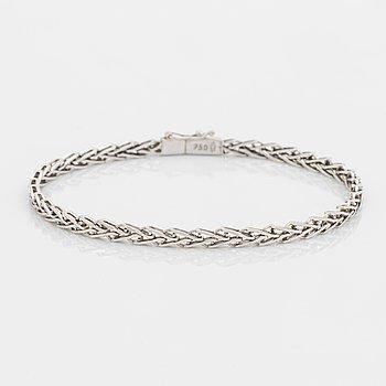 18K white gold bracelet, Italian mark, Vicenza.