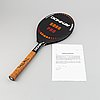 Björn borg, a custom made 'donnay borg pro' signed tennisracket, 1980-83 with certificate.
