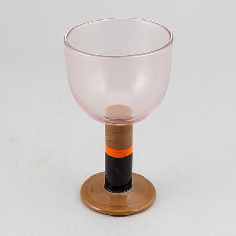 A goblet, 'popglas' by gunnar cyrén, orrefors.