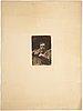 Anders zorn, etsningar, 3 st, för föreningen för grafisk konst, 1889, 1903.