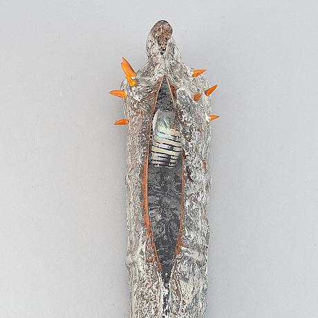 A unique wall glass sculpture by bertil vallien, kosta boda, signed.