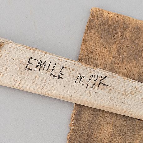 Madeleine pyk, a sculpture, signed.