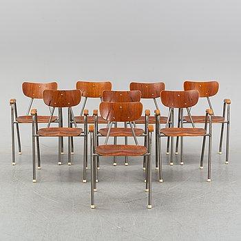 Stolar, åtta stycken, 1950/60-tal.