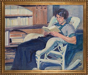Ali Munsterhjelm, oil on canvas, signed.