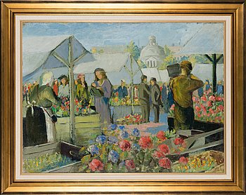 Helge Stén, oil on canvas, signed and dated 1948.