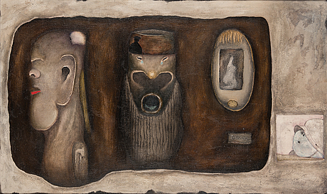 Erkki auvinen, oil on canvas, signed and dated -68.