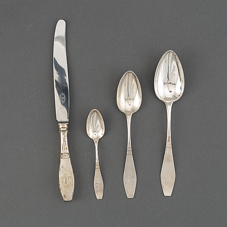 J appelgren, bestickservis, 48 delar, silver, vasa, finland 1923-24.