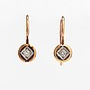 A pair of 14k gold earrings with diamonds ca. 0.06 ct tot. finland.