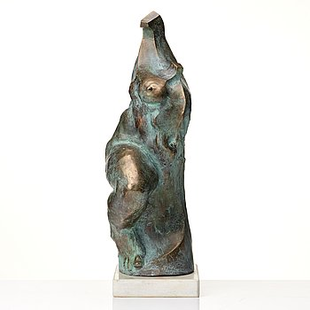 Adam Krzysztof Wieczorek, sculpture, patinated bronze, signed.