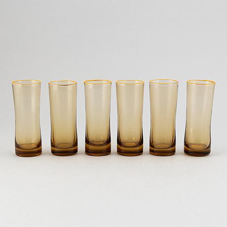 Six glasses probably murano, italy.