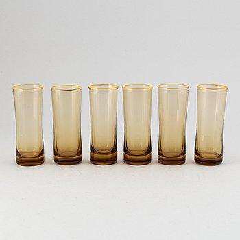 Glas, 6 st, troligen Murano, Italien.