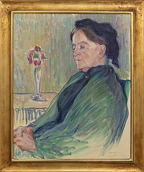Axel Haartman, oil on canvas signed and dated 1911.