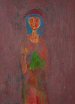 Oleg Kuznetsov, oil on canvas, verso signed and dated 1993.