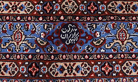 A rug, moud, ca 248 x 155 cm.