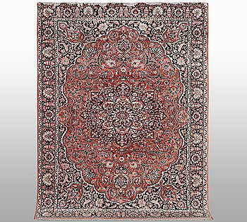 A carpet, Kashmir silk, ca 227 x 168 cm.