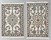Two nain rug, part silk, ca 90 x 64 cm.