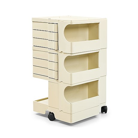 Joe colombo, a creme coloured plastic chest of drawers, 'boby', padova, italy, post 1968,