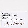 Anna kleberg, fotografi signerad a tergo, upplaga 120.