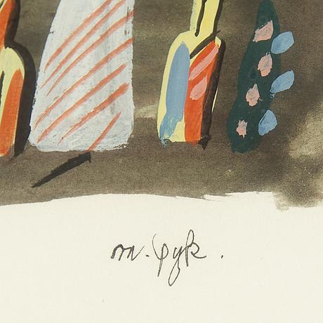 Madeleine pyk, blandteknik, signerad.