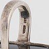 Vivianna torun bülow hübe, ring, jakarta indonesien, sterling silver och obsidian.