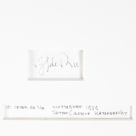 Peter de ru, fotografi, signerat och daterad rotterdam 1979  a tergo.