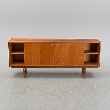 A teak veneered 'korsör' sideboard from ikea, 1960's.