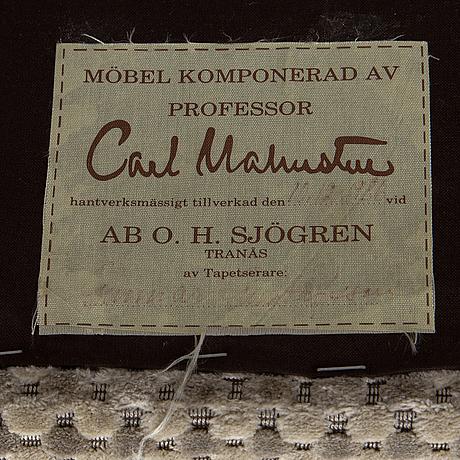 Carl malmsten, a 'samsas' easy chair, ab oh sjögren, tranås, 1986.
