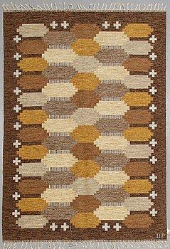 Ulla Parkdal, a carpet, flat weave, ca 238,5 x 167 cm, signed UP.
